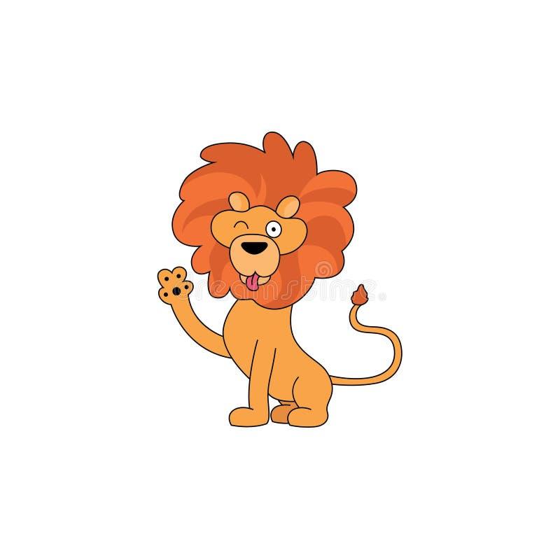 Expressão do leão ilustração royalty free