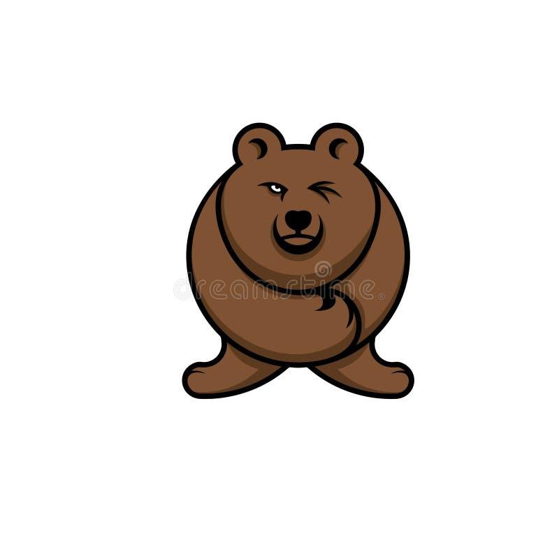Expressão do urso foto de stock