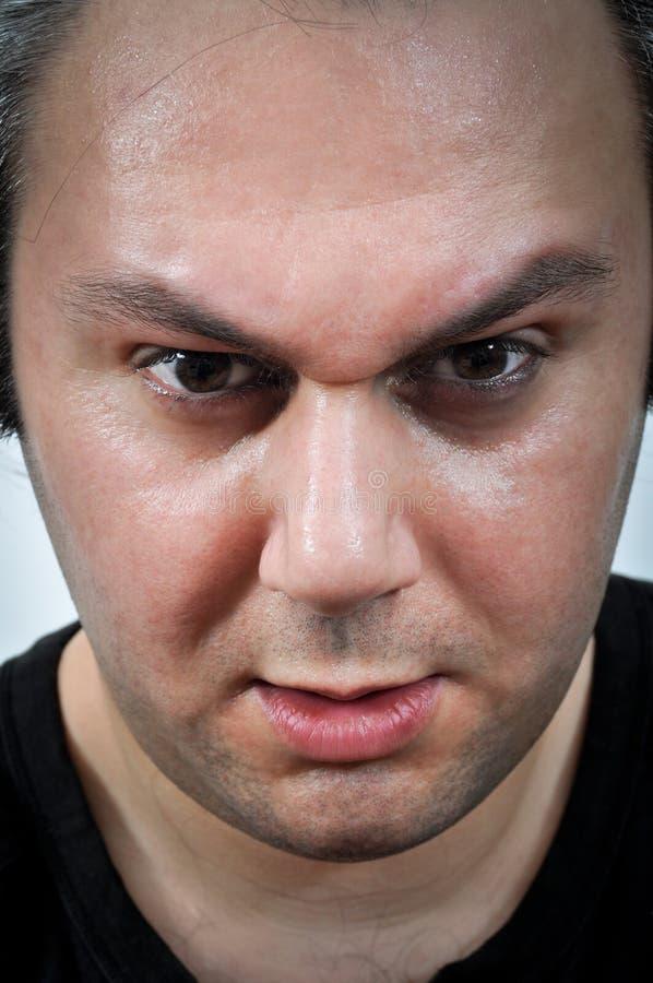 Expressão facial da depressão fotografia de stock