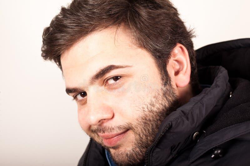 Expressão facial de homem novo fotos de stock royalty free