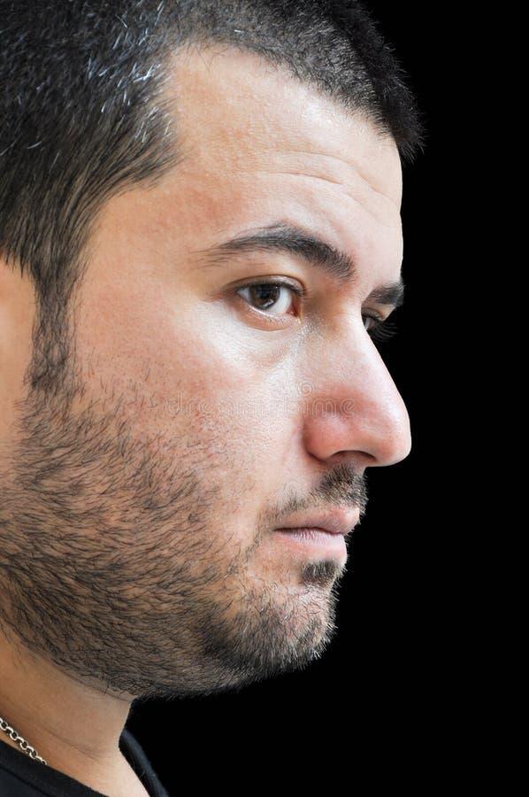 Expressão facial de homem novo fotografia de stock royalty free