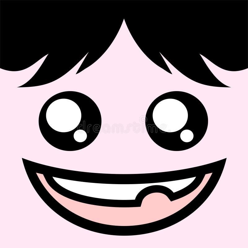 Expressão feliz ilustração royalty free