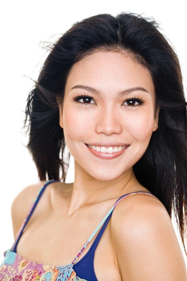 Expressão feliz da face da mulher nova imagem de stock royalty free