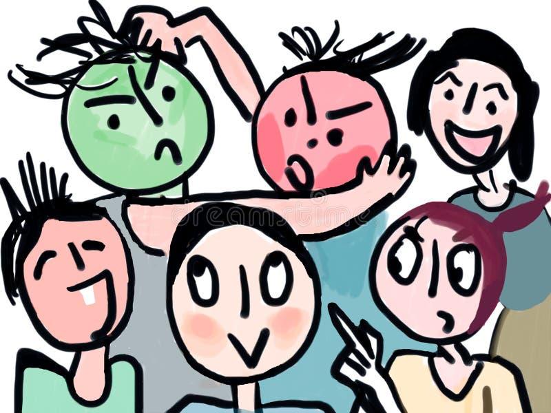Expressões ilustração stock