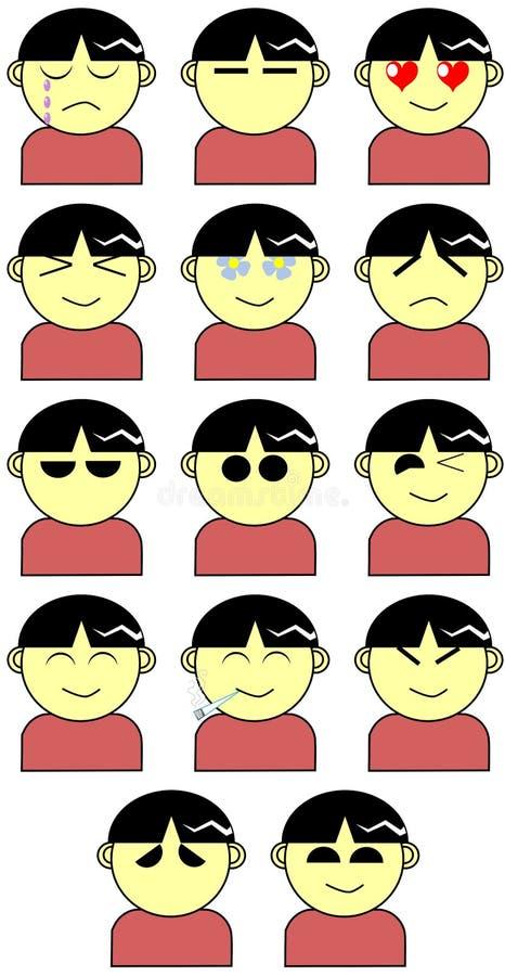 Expressões da cara ilustração royalty free