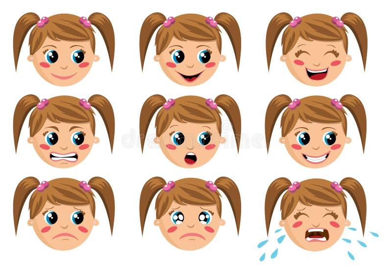 Expressões da face ilustração stock