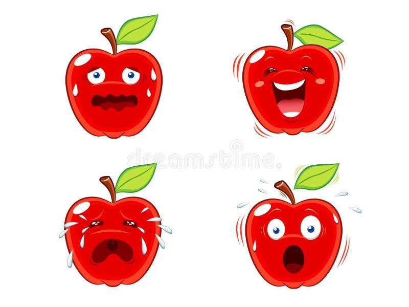 Expressões de Apple ilustração royalty free