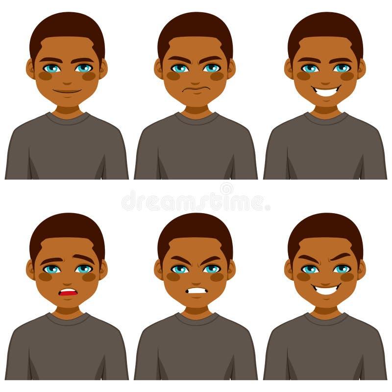 Expressões do Avatar do homem ilustração royalty free