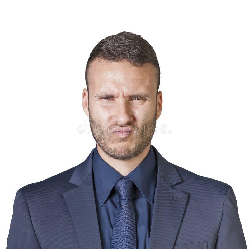 Expressões do homem de negócios imagens de stock