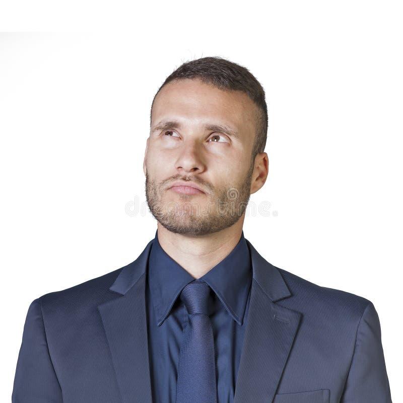 Expressões do homem de negócios foto de stock