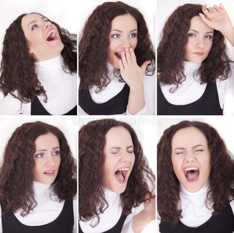 Expressões fêmeas imagens de stock
