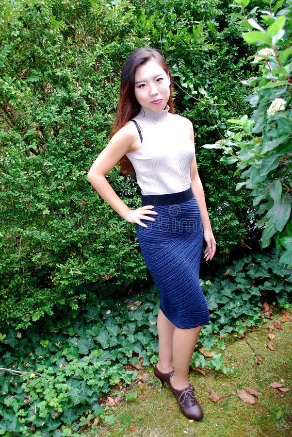 Expressões fêmeas asiáticas da beleza fotografia de stock royalty free