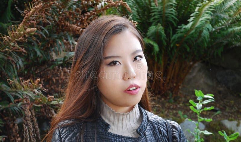 Expressões fêmeas asiáticas da beleza fotos de stock