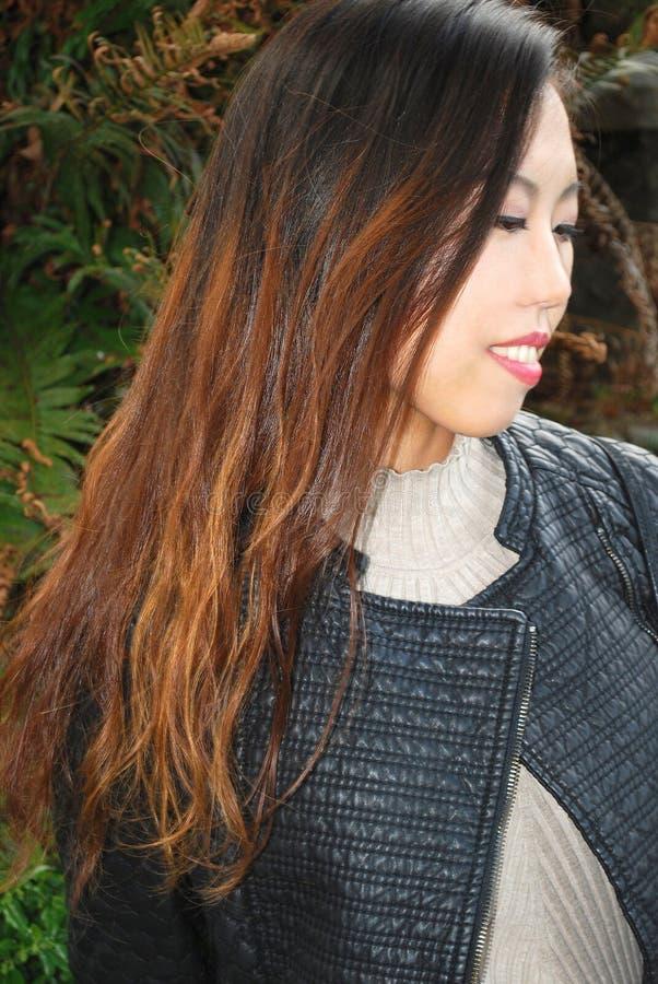 Expressões fêmeas asiáticas da beleza foto de stock