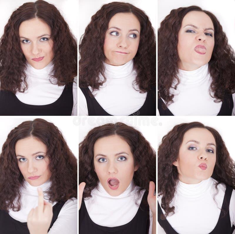 Expressões fêmeas da face imagem de stock royalty free