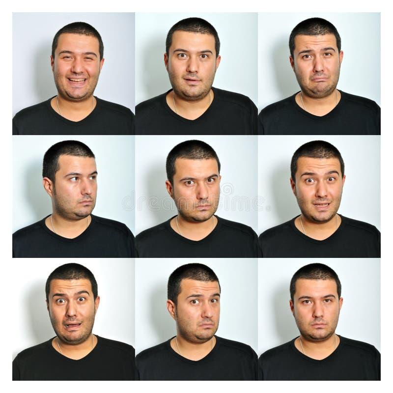 Expressões faciais fotografia de stock royalty free