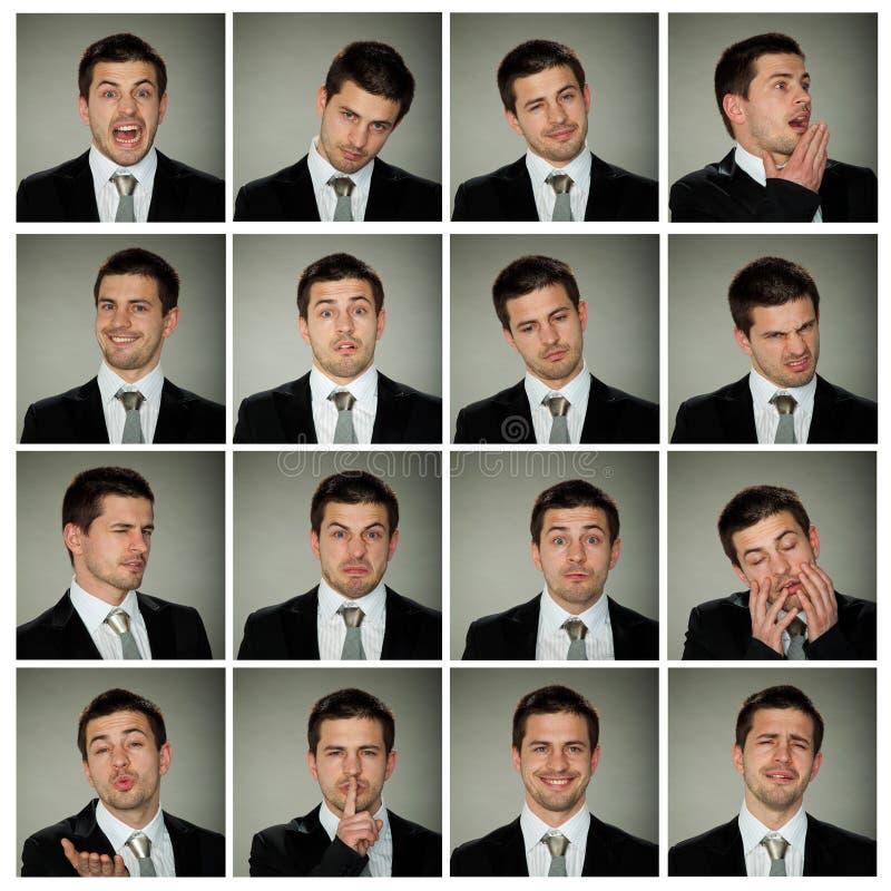 Expressões, pares de cara do negócio fotografia de stock royalty free