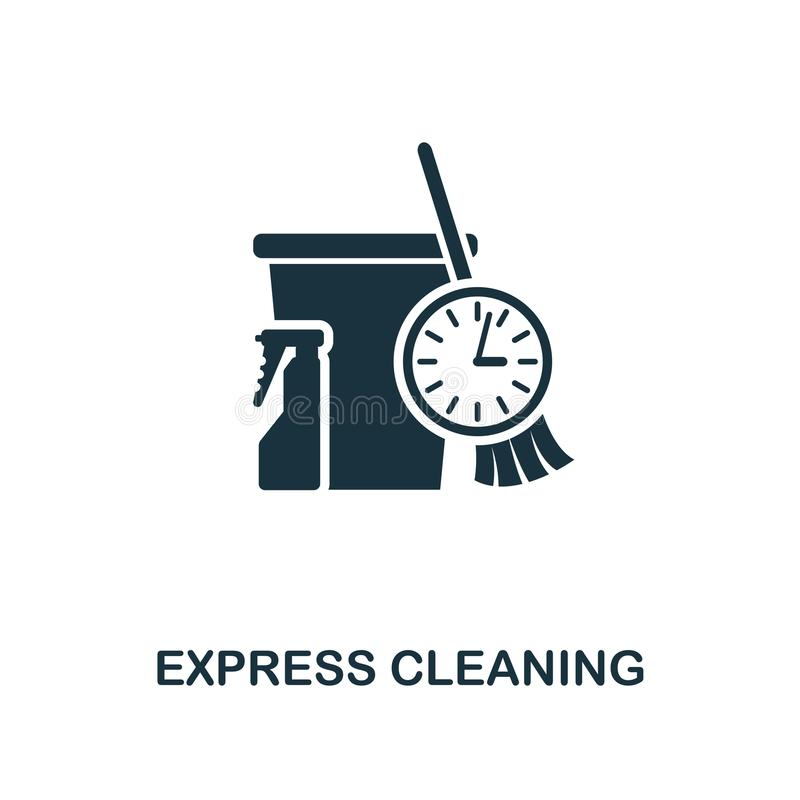 Express Cleaning icon. Line style icon design from cleaning icon collection. UI. Illustration of express cleaning icon. Pictogram stock illustration