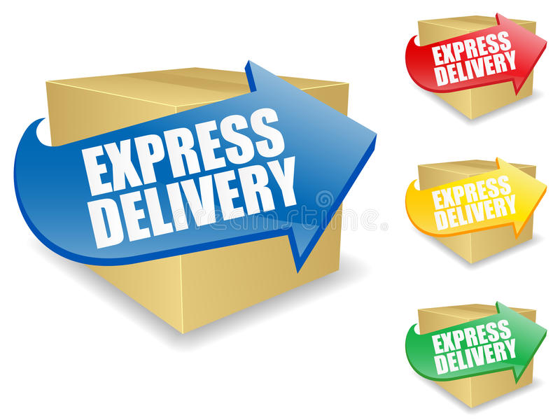Express Delivery Icon. Express Delivery illustration in five different colors. Shadows on separate layer