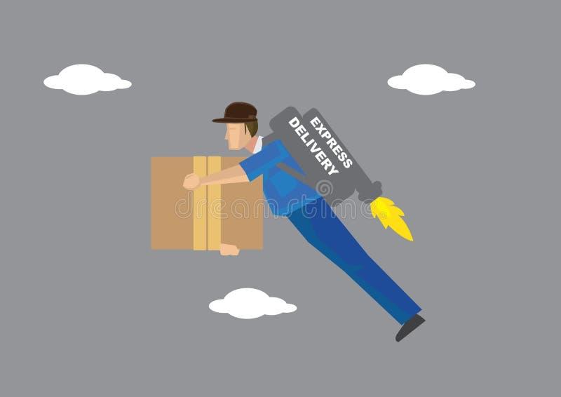 Express Delivery Service Vector Illustration stock illustration