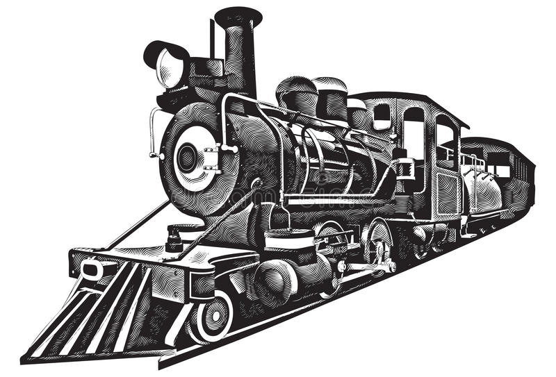 Express_engraving americano royalty illustrazione gratis