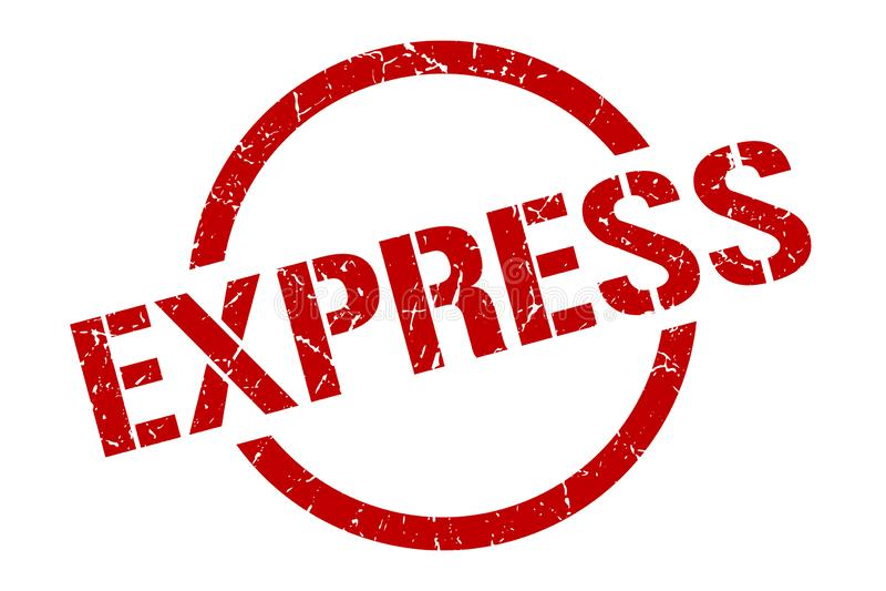 express stamp vector illustration