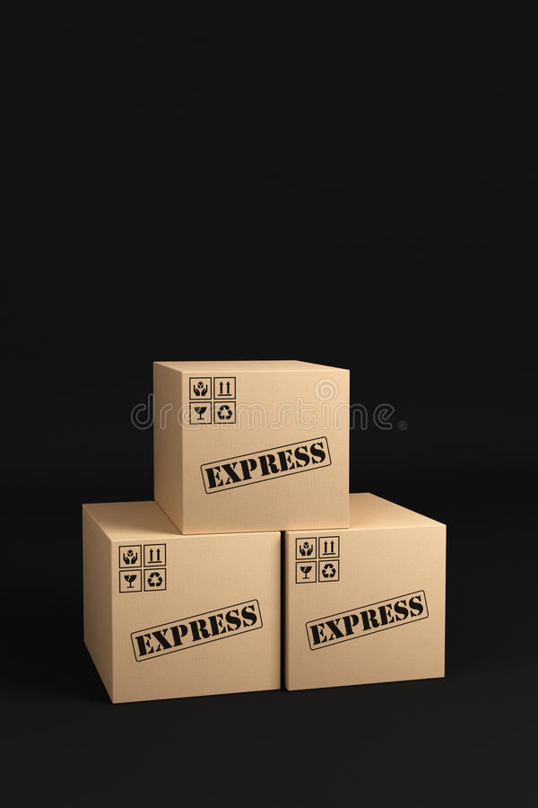 Download Express Shipping Boxes stock illustration. Image of shipment - 23082683