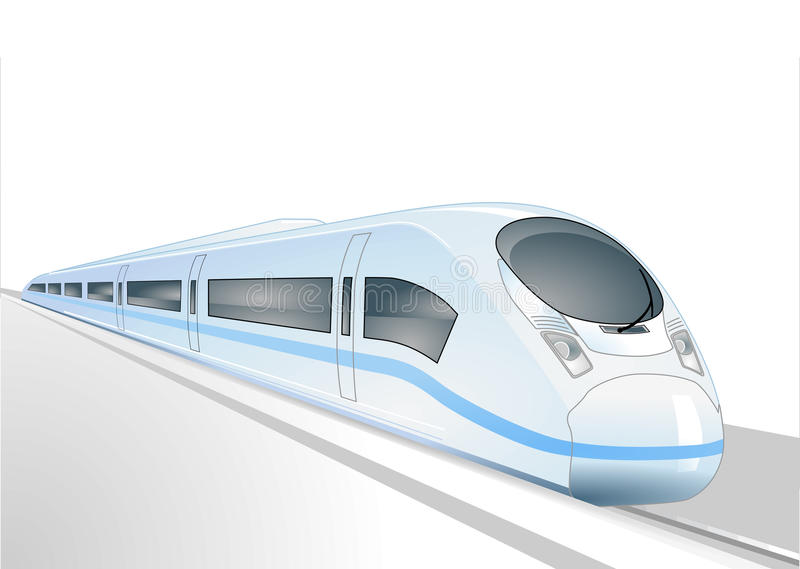 Download Express train stock vector. Image of motion, transit - 18609860