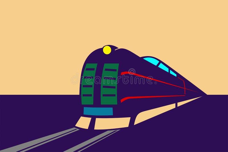 Express Train royalty free illustration