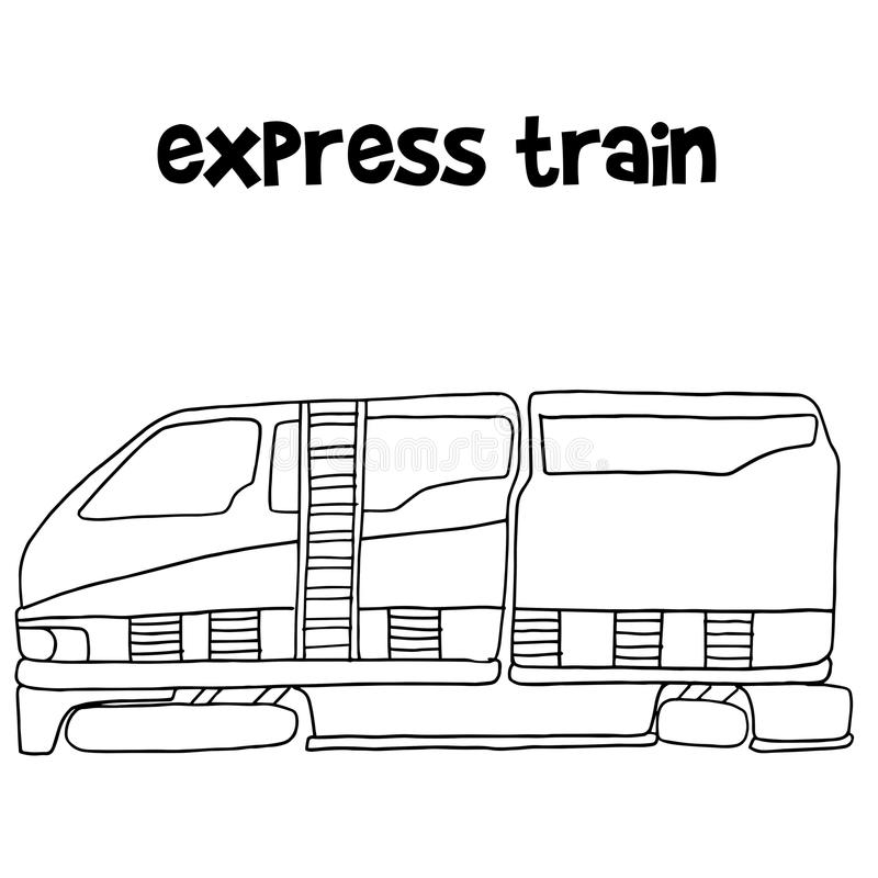 Express train of vector illustration stock illustration