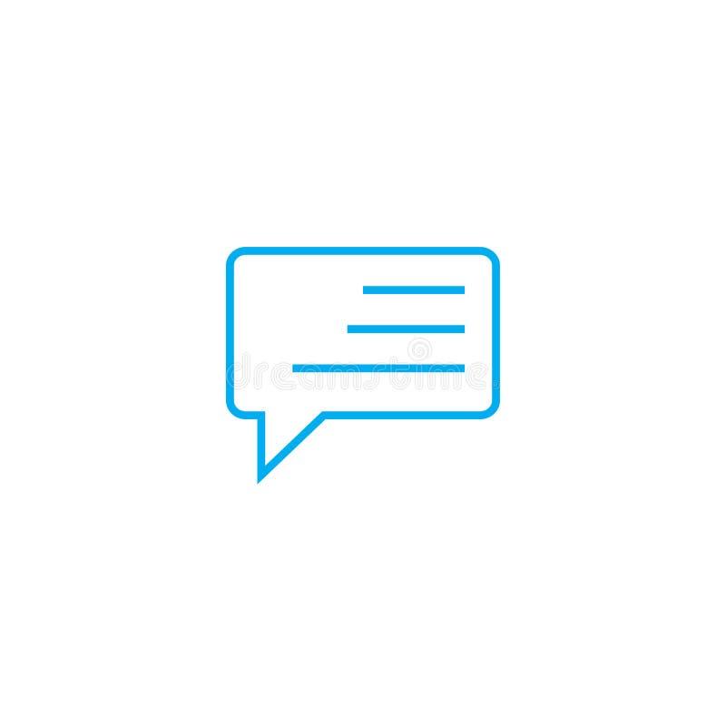 Expressar possui o conceito linear do ícone da opinião Expressando possua a linha sinal da opinião do vetor, símbolo, ilustração ilustração stock