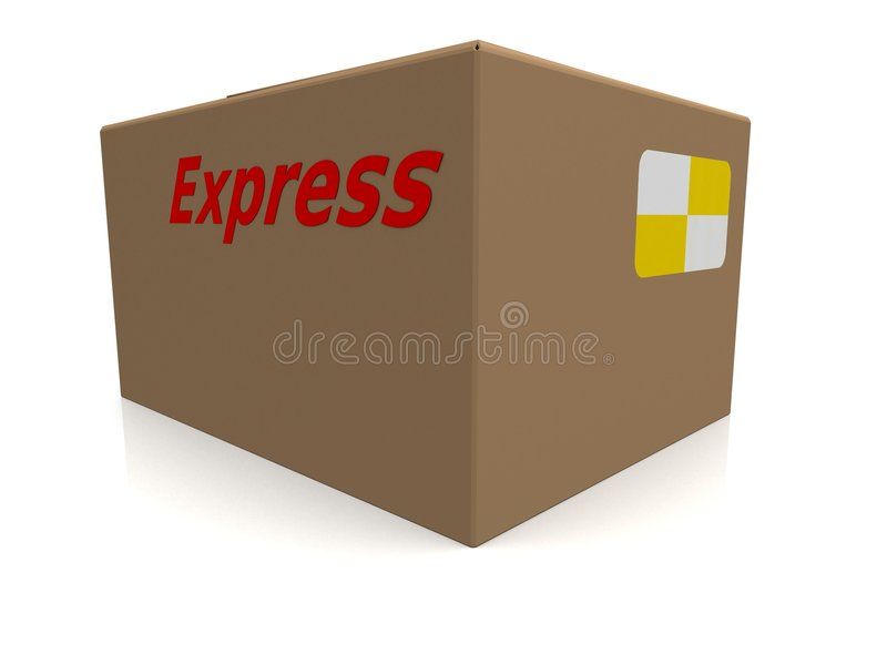 Expresse a caixa ilustração royalty free