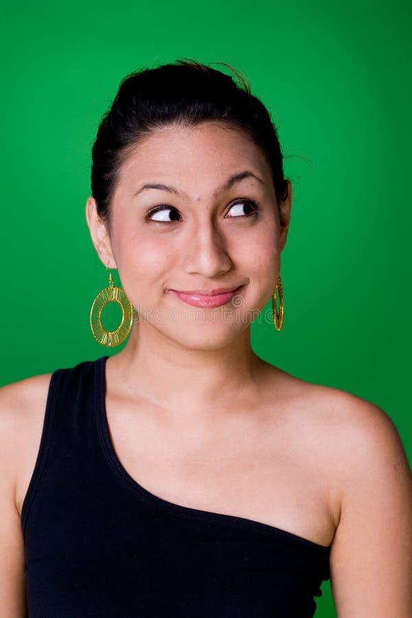 Expressief jong meisje royalty-vrije stock foto