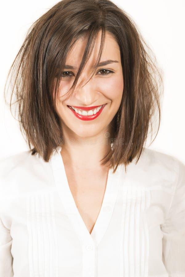 Expressief portret van een mooi meisje stock fotografie