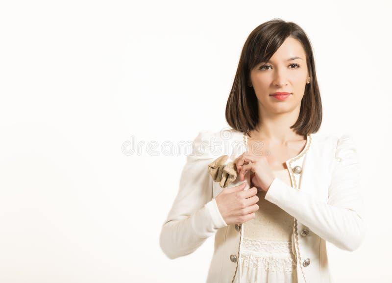 Expressief portret van een mooie vrouw royalty-vrije stock foto