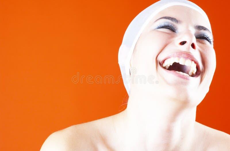 Expressieve glimlach.   royalty-vrije stock fotografie