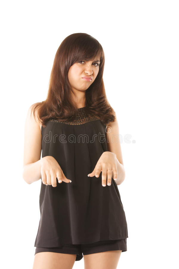 Download Expressing disgust stock image. Image of woman, hairs - 9525367