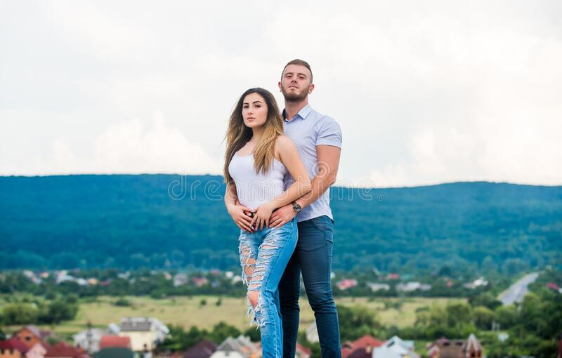 Expressing feelings. man and woman embrace. romantic relationship. love date. family values. valentines day. sexy girl stock photos