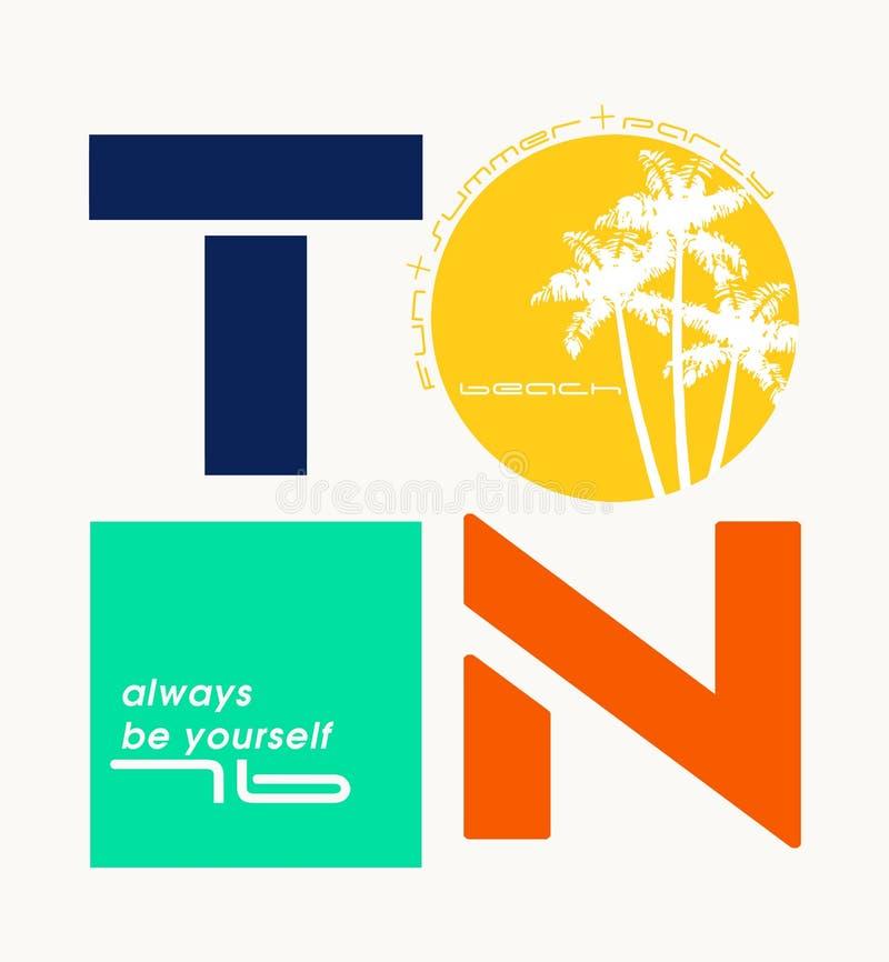 """Expression : """"soyez toujours vous-même """"typographie, graphiques de tee-shirt illustration stock"""