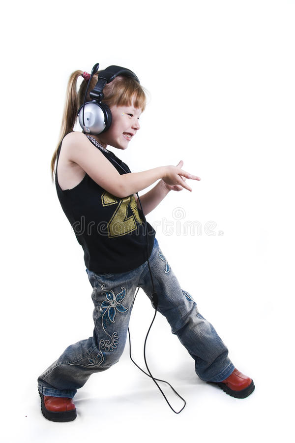 Expression de la fille en pose dansing images stock
