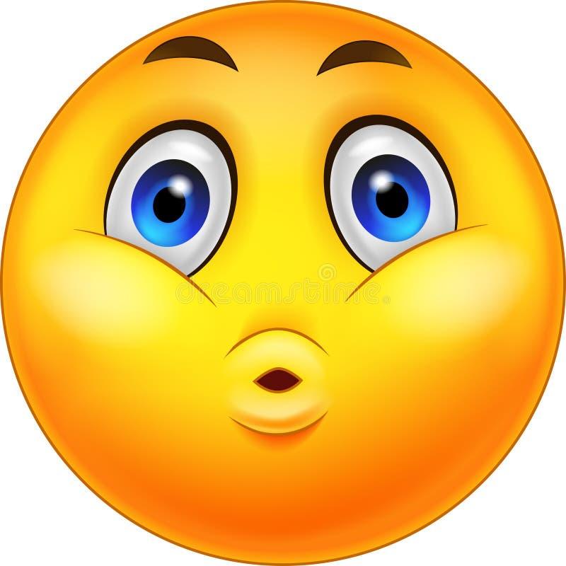 Expression de surprise de bande dessinée de Smiley Emoticon illustration libre de droits