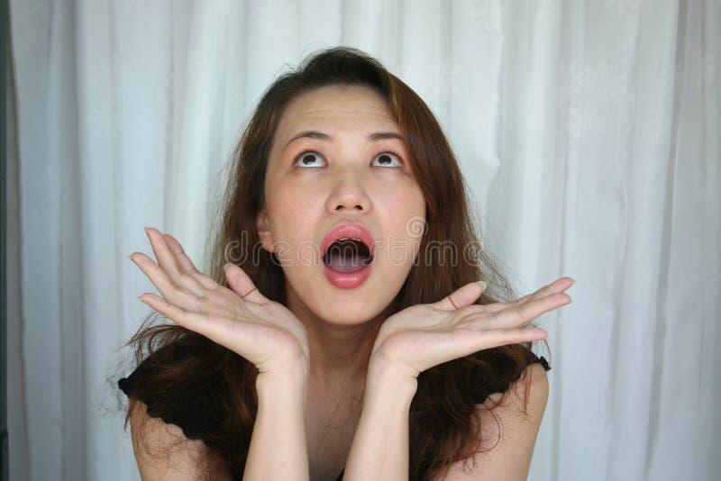 Expression du visage de la femme images stock