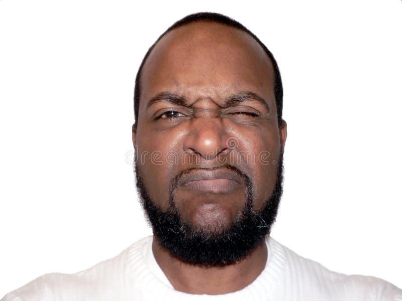 Expression faciale - froncement des sourcils images libres de droits