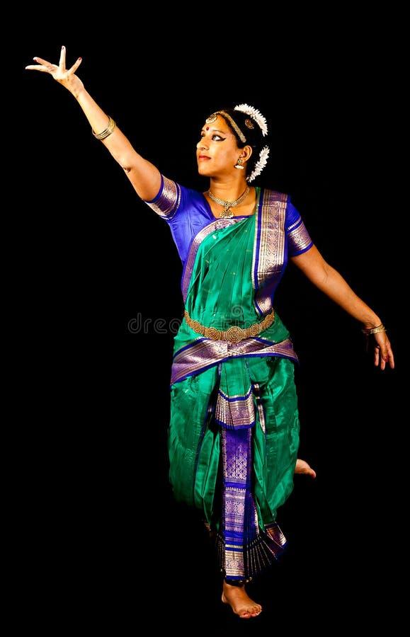 Expression indienne traditionnelle de danse image stock