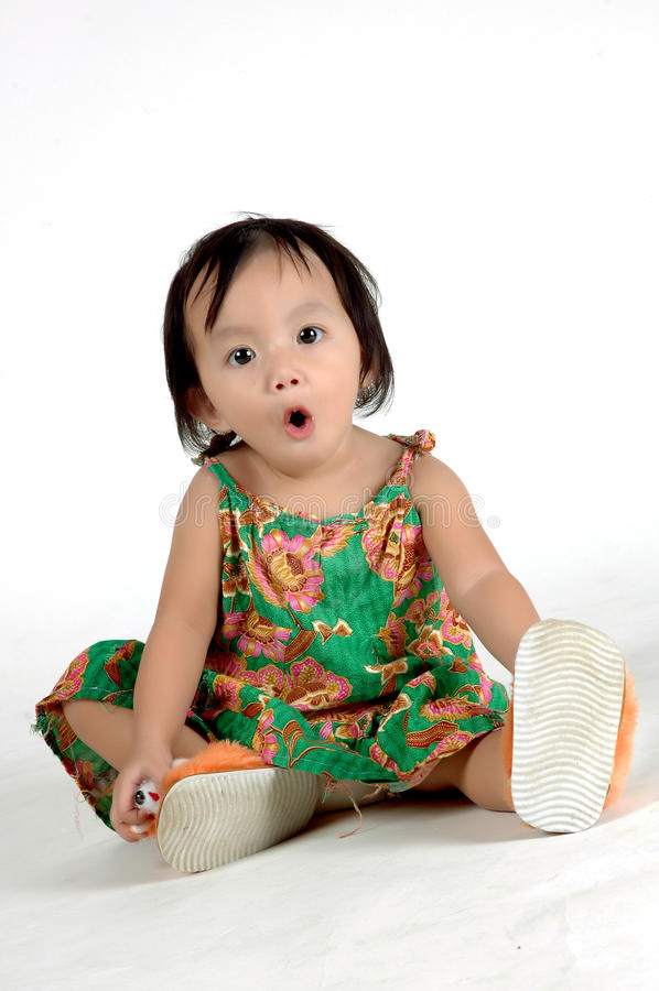 Download Expression Of A Little Girl Stock Photo - Image: 18064708