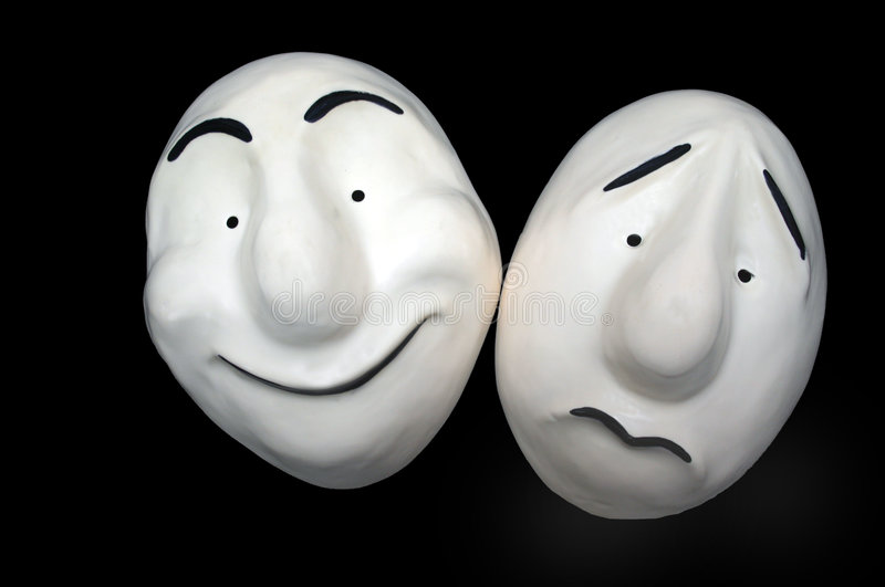 Download Expression Mask 3 stock image. Image of white, black, expression - 6769