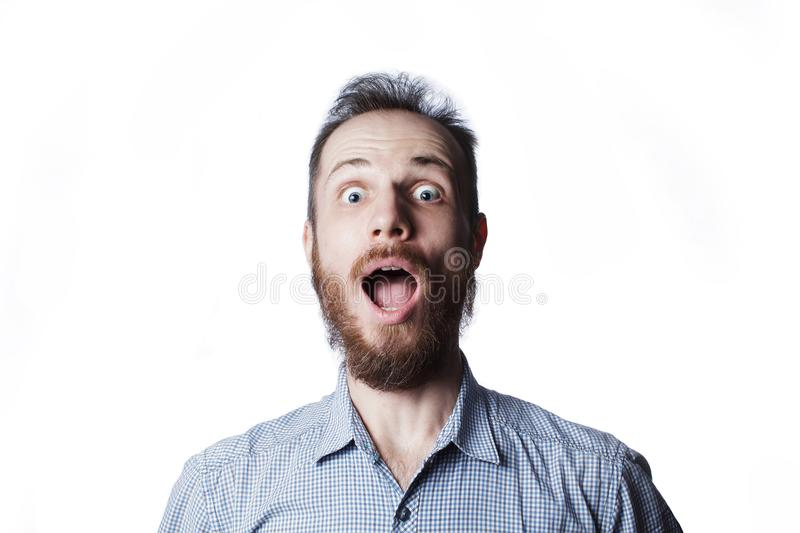Man`s expression funny face royalty free stock images