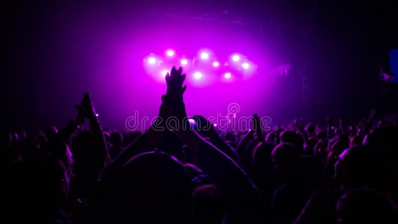 Expression from a rock concert stock photography