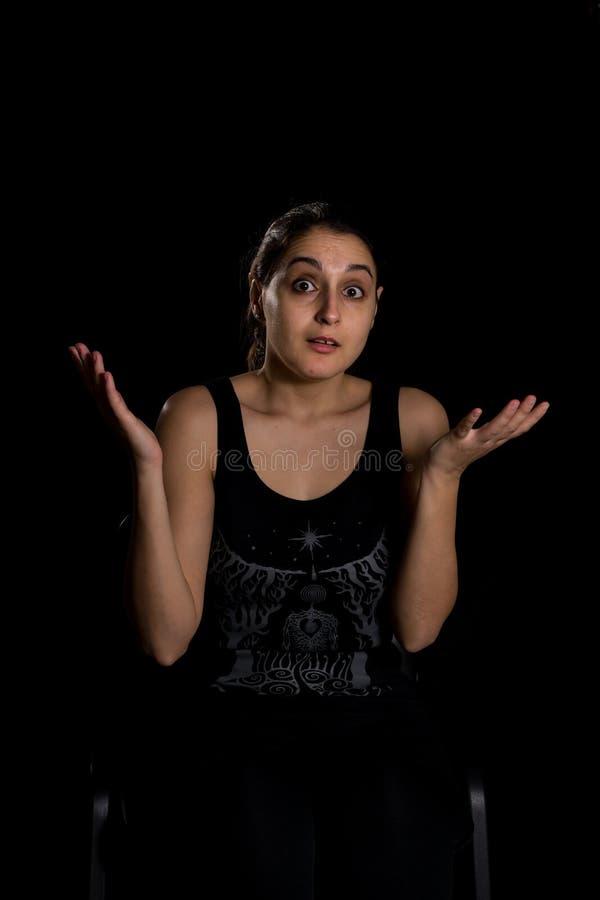 Expression stupéfaite par femme photos stock