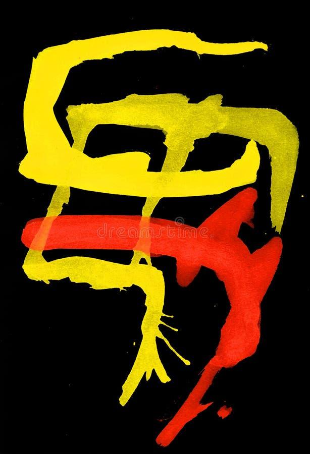 Expressionism, τέχνη, χρώμα, αφηρημένος, φωτεινό στοκ εικόνες
